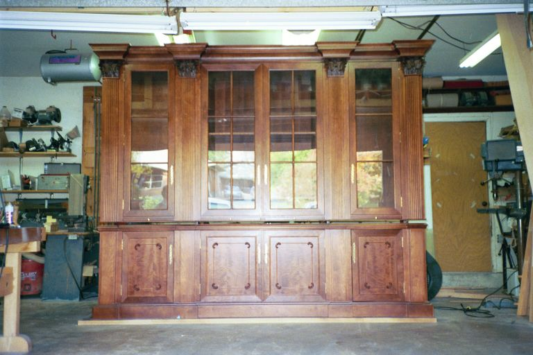 Cherry library cabinet